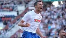لاعب لبناني يسجل هدفًا في الدوري الاوروبي