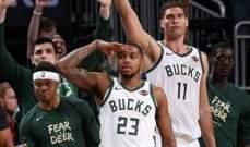 NBA : ميلووكي يحقق الإنتصار الأول على رابتورز