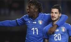 بوليتانو سعيد بهدفه مع منتخب إيطاليا