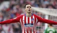 أتلتيكو مدريد يحسم قمته امام الافيش ويقتنص الوصافة مؤقتاً من اشبيلية