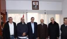 رئيس الاتحاد اللبناني لكرة السلة اكرم الحلبي التقى وفد الحكمة