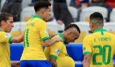 كوبا اميركا: البرازيل تكتسح بيرو وفنزويلا تنتصر على بوليفيا