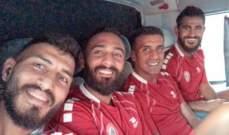 لاعبو منتخب لبنان في الأردن