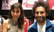 الممثلة اللبنانية جيسي عبدو مع محمّد صلاح
