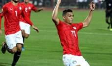 مصطفى محمد الأفضل في مباراة الفراعنة أمام الكاميرون