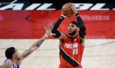 NBA: نيويورك نيكس يسقط امام بورتلاند بفارق ثلاث نقاط