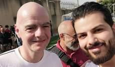 إنفانتينو لصحيفة السبورت الإلكترونية: أتمنّى أن أشاهد لبنان في مونديال قطر ومشروع كرة القدم المدرسية هدفه ثقافي