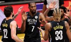 NBA: دورانت يقود بروكلين الى الفوز بعد عودته من الاصابة
