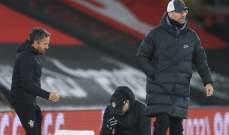 مدرب ساوثامبتون يبكي بعد الفوز على ليفربول