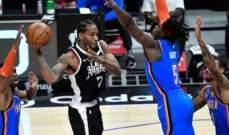 NBA: الكليبزر يجدد الفوز على اوكلاهوما ويحافظ على صدارته غربياً