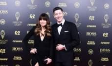وصول ليفا الى حفل الكرة الذهبية برفقة زوجته الحسناء