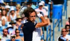 ميدفيديف الى المركز الخامس وديوكوفيتش في صدارة تصنيف لاعبي كرة المضرب