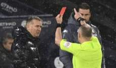 السبب الذي ادى الى طرد سميث من مباراة مانشستر سيتي