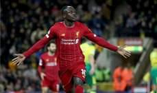 البريميرليغ: ماني ينقذ ليفربول ويهديه الفوز على نوريتش سيتي