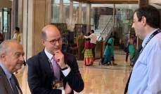 """أمين عام الـ""""فيبا"""" يهنىء الرئيس أكرم حلبي ويطمئن على فيكين جرجيان وجورج عقيقي"""