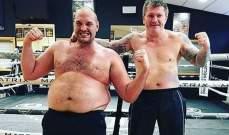 تايسون فيوري ينشر صور لخسارته 64 كيلو غراماً