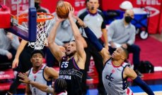 NBA: يوتا يعادل ميمفيس وفيلادلفيا يتفوق للمرة الثانية على واشنطن