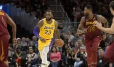 NBA: ليبرون يقود الليكرز للتفوق على فريقه السابق