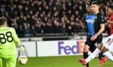 اليوروبا ليغ: مانشستر يونايتد يكتفي بالتعادل وفوز مهم للانتر وفرانكفورت