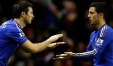 هازارد: بإمكان لامبارد أن يصبح من أفضل المدربين في العالم