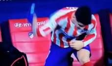 موراتا غاضب جداً بعد خروجه من مباراة فياريال