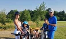 الدون يلهو الى جانب عائلته في العطلة الصيفية
