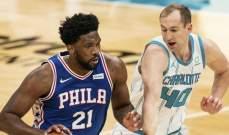 NBA: فيلادلفيا يعزز صدارته شرقياُ بعد الفوز على الهورنتس