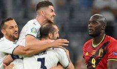 ارقام واحصاءات بعد مباراة بلجيكا وايطاليا