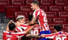 الدوري الاسباني: اتلتيكو مدريد يستعيد المركز الثالث من اشبيليه