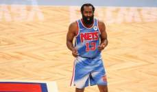 NBA: هاردن يتألق في الظهور الاول له بقميص بروكلين ويسجل ثلاث ارقام مزدوجة