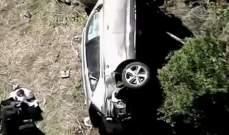 الافصاح عن سبب الحادث  الذي تعرض له وودز