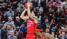 NBA: تورنتو رابترز يسجل الانتصار ال 15 المتتالي بعد الفوز على مينسوتا