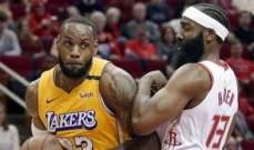 NBA: ليبرون يقود الليكرز الى الفوز ال 34 هذا الموسم على حساب الروكتس