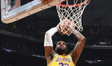 ليبرون جايمس اول لاعب يسجل ثلاثة ارقام مزدوجة في جميع فرق NBA