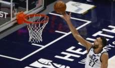 NBA: يوتا جاز يسجل الفوز العاشر المتتالي ويتقدم الى الصدارة غربياً