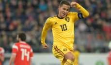 هازارد: المنتخب البلجيكي أقوى الآن