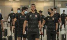 يعثة الاهلي المصري تغادر مطار القاهرة