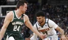 NBA: ميلووكي يتلقى الخسارة الثالثة على التوالي بغياب يانيس