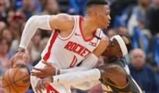 NBA: نقاط ويستبروك ال34 لم تساعده للتغلب على فريقه السابق