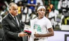 فيبا تعيد نشر تغريدة تكرم بها اللاعبة النيجيرية كالو