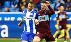 الدوري الإسباني: ديبورتيفو الافيس يتخطى سيلتا فيغو بهدفين