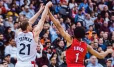 NBA: تورنتو يتلقى الخسارة ال13 له هذا الموسم