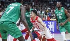 مونديال السلة: الصين تسقط أمام نيجيريا وفوز إيران والأرجنتين