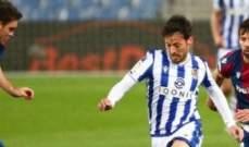 ريال سوسييداد يثبت اقدامه في المركز الخامس بفوز مستحق امام ليفانتي