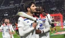 كأس الرابطة الفرنسية: أولمبيك ليون يعبر لربع النهائي بفوز مستحق امام تولوز