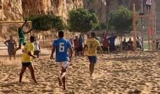 شباب الجناح يتأهل الى المرحلة النهائية من البطولة الشاطئية بفوزه على الريجي