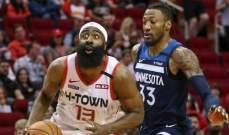 هاردن يصل الى النقطة 20 الف في NBA