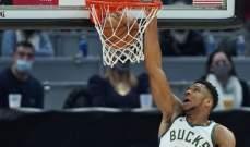 NBA: ميلووكي الى الوصافة شرقياً بعد الفوز على كليفلاند