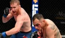 UFC تعاود رسمياً مبارياتها بمفاجأة من العيار الثقيل