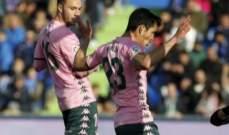 خيتافي يحسم المواجهة امام ريال بيتيس بصعوبة